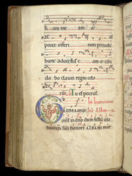 Illuminated Initial And Neumes, In A Troper And Gradual Of St. Albans Abbey